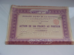 DOMAINE JULIEN DE LA GUETHNA (1931) MOSTAGANEM  ALGERIE - Aandelen