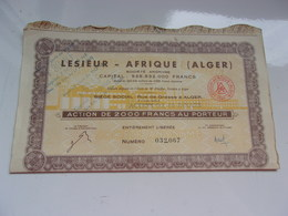 LESIEUR AFRIQUE (ALGER) Algerie - Shareholdings