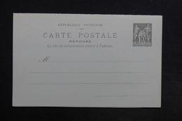FRANCE - Entier Type Sage Avec Réponse , Non Circulé - L 30702 - Entiers Postaux