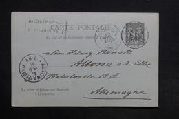 FRANCE - Entier Type Sage Avec Réponse Du Havre Pour Altona ( Allemagne ) En 1895 - L 30703 - Entiers Postaux