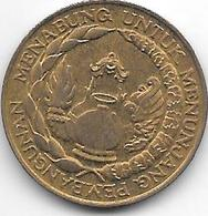 *INDONESIA 10 Rupiah 1974 Km 38 Unc - Indonesia