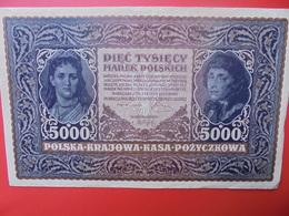 POLOGNE 5000 MAREK 1920 PEU CIRCULER-BELLE QUALITE (B.1) - Pologne