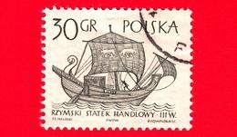 POLONIA - Usato - 1965 - Imbarcazione - Barche A Vela - Mercantile Del III Secolo - 30 - 1944-.... Repubblica