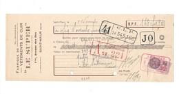 LE SUPER Vêtements De Cuir à St Maur Facture Lettre De Change Timbre Fiscal 30 C  1937 TB 2 Scans (enchères Anonymes) - 1900 – 1949