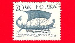 POLONIA - Usato - 1965 - Imbarcazione - Barche A Vela - Trireme Greca - 20 - 1944-.... Repubblica