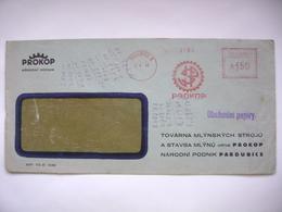 Czechoslovakia Cover 1948 Meter Stamp Freistempel Pardubice PROKOP Tovarna Na Mlynske Stroje A Vodni Turbiny - Tschechoslowakei/CSSR