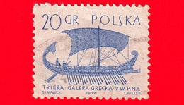 POLONIA - Usato - 1963 - Imbarcazione - Barche A Vela - Trireme Greca (5th.cent.B.C.) - 20 - 1944-.... Repubblica