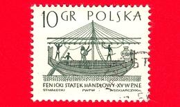 POLONIA - Usato - 1965 - Imbarcazione - Barche A Vela - Mercantile Fenicio - 10 - 1944-.... Repubblica