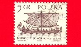 POLONIA - Usato - 1965 - Imbarcazione - Barche A Vela - Nave Egiziana - 5 - 1944-.... Repubblica