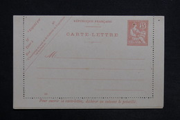 FRANCE - Carte Lettre Type Mouchon Non Circulé - L 30715 - Postal Stamped Stationery