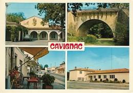 33 Cavignac Le Foyer Rural Le Pont Napoléon La Rue Principale La Gendarmerie (2 Scans) - Francia