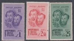 Italy-Italian Social Republic S 512-514 1944 Bandiera Brothers, Mint Hinged - 4. 1944-45 Social Republic