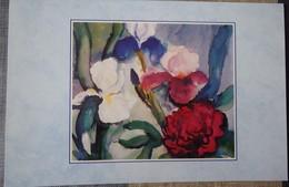 Carte Fleurs Iris Pivoine Franz Somm - Unicef - Fleurs