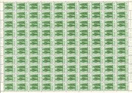 Katanga 0052 - 10c  Feuille / Sheet De 100 - Katanga