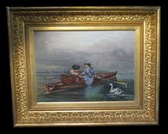 [IMPRESSIONNISME HsT Signée] ROUQUETTE (P.) ??? - [Huile Sur Toile, Signée]. 1864. - Oils