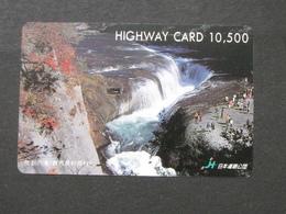 JAPAN HIGHWAY PREPAIDCARD Y 10.500 - WATERFALLS - Giappone