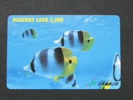JAPAN HIGHWAY PREPAIDCARD Y 3.000 - FISH - Giappone