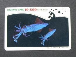 JAPAN HIGHWAY PREPAIDCARD Y 10.500 - FISH - Giappone