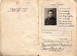 MILITARY ID - YUGOSLAVIA 1947 - Documenti Storici