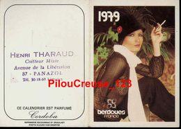 """87 Haute Vienne - PANAZOL - """" Publicité Henri THARAUD - Coiffeur - Calendrier 1979 """" - Calendriers"""