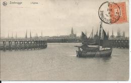 Zichtkaart Zeebrugge Met OCB108 - Afstempeling ZEE-BRUGGE - COBA 8 - 1912 Pellens
