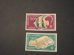 COMORES - P.A. 1968 PESCI 2 VALORI - NUOVI(++) - Isole Comore (1950-1975)