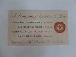 Carte De Visite A. Lemonnier Importateur Le Havre (76). - Cartoncini Da Visita