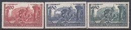 LIECHTENSTEIN - Michel - 1939 - Nr 180/82 - MH* - Unused Stamps