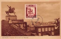 Pologne.n°57707.krakow.pomnik Kosciuszki Na Wawelu.carte Maximum - Pologne
