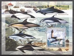 MPH-BK1-132 MINT  PF/MNH ¤ ST TOME 2006 BLOCK ¤ SEALIFE - VUURTORENS - PHARES - LEUCHTURME - LIGHTHOUSES- - Faros
