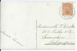 Fantasiekaart Met OCB 135 - Afstempeling HERSEEUW 2 - 1915-1920 Albert I