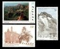 ESPAÑA 2000 - PATRIMONIO DE LA HUMANIDAD - Edifil Nº 3729-3731 - YVERT 3296-3298 - Geología