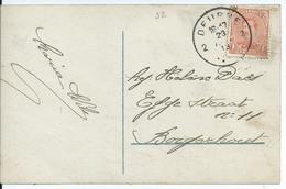 Fantasiekaart Met OCB 135 - Afstempeling DEURNE 2 - 1915-1920 Albert I
