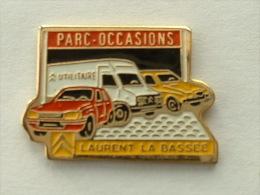 PIN'S CITROËN - LAURENT LA BASSEE - PARC OCCASIONS - CARTOUCHE JAUNE - Citroën