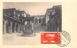Italie.n°57712.abbazia Di Montecassino.cortle Del Bramante.carte Maximum - Italia