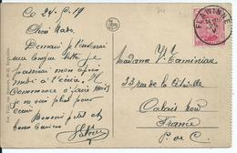 Fantasiekaart Met OCB 138 - Afstempeling Noodstempel FLAWINNE Zonder Jaartal - 1915-1920 Albert I