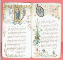 LIVRET ANCIEN DE 8 PAGES EN CHROMO LA DEVOTION PRATIQUE ENVERS MARIE CONSECRATION A LA SAINT VIERGE - Godsdienst & Esoterisme