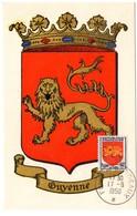 HERALDIQUE = 33 BORDEAUX 1950 = CARTE MAXIMUM + CACHET FOIRE + N° 835 ARMOIRIES De GUYENNE - Maximum Cards