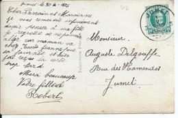 Fantasiekaart Met OCB 194 - Afstempeling JUMET 3 - 1922-1927 Houyoux