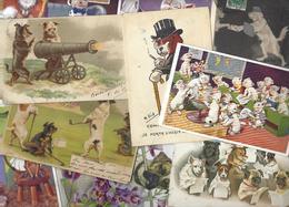 Lot 1784 De 10 CPA Fantaisies Chien Dog Déstockage Pour Revendeurs Ou Collectionneurs - Cartes Postales