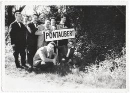 PONTAUBERT (89) PHOTO. PANNEAU D'ENTREE De VILLE. DEPARTEMENTALE 142. - Lieux