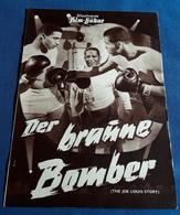 """Coley Wallace, Paul Stewart, Hilda Simms > """"Der Braune Bomber (THE JOE LOUIS STORY)"""" > Altes IFB-Filmprogramm (fp389) - Zeitschriften"""
