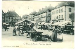 Suisse Chaux De Fonds Place Du Marché PHARMACIE Belle Animation 1907 - NE Neuchâtel