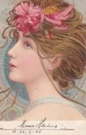 Carte D'une Femme Art Nouveau Circulée En 1904 - 1900-1949