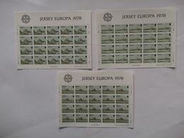 JERSEY  - Feuilles Completes N° 171/ 73 Années 1978 CEPT Europa  Neuf XX  ( Voir Photo ) - Jersey