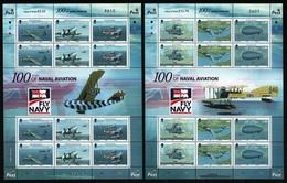 Isle Of Man 2009 - Mi-Nr. 1487-1492 ** - MNH - KLB - Flugzeuge / Airplanes - Isla De Man