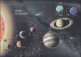 INDIA 2018 SOLAR SYSTEM MS MNH Miniature Sheet Depicts All 8 Planets, (**) - Nuovi