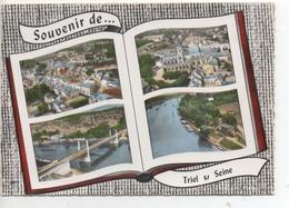 CP ( Triel Sur Seine - Vues Diverses En Forme De Livre ) - Triel Sur Seine