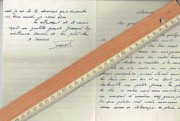 1er Wing Beauvechain St Gérard L'accident Aérien Du 20/12/1951 Raconté Par Un Témoin Direct Dans Une Lettre à Sa Fiancée - Documents Historiques