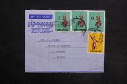 SINGAPOUR - Aérogramme Pour La France - L 30765 - Singapour (1959-...)